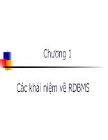 Các khái niệm về RDBMS