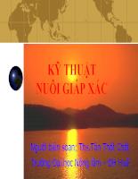 Tài liệu Bài giảng Kỹ thuật nuôi giáp xác.pdf