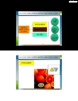 Bài giảng môn dinh dưỡng trong công nghệ thực phẩm 2