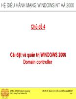 Cài đặt và quản trị WINDOWS 2000 Domain controller