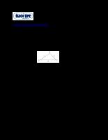 Hệ thức lượng trong tam giác