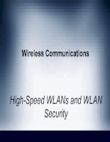 High-Speed WLANs and WLAN Security