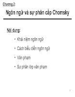 Ngôn ngữ và sự phân cấp Chomsky II