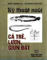 Tài liệu Kỹ thuật nuôi cá trê, lươn và giun đất.pdf