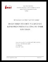 Hoàn thiện tổ chức và quản lý kênh phân phối sản phẩm của Công ty Sơn TISON 2011.doc