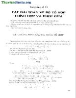 Các bài toán về tổ hợp chỉnh hợp và phép đếm