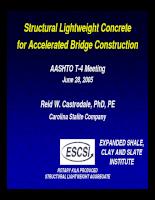 Vật liệu nhẹ cho xây cầu nhanh