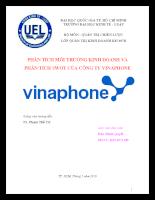 Phân tích môi trường kinh doanh và phân tích swot của công ty vinaphone.doc