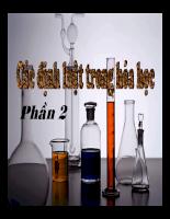 Silde các định luật trong hóa học