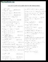 Phương trình và bất phương trình logarit trong đề thi đại học