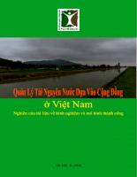 Quản lý tài nguyên nước dựa vào cộng đồng ở Việt Nam