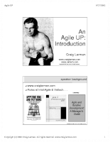 An Agile UP Introduction