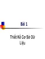 Slide thiết kế cơ sở dữ liệu