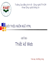 Bài giảng HTML