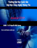 Bài giảng Advanced TCP/IP