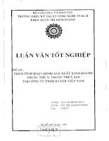 Phân tích họat động sản xuất kinh doanh thuốc thú y, thuốc thủy sản tại công ty TNHH Bayer Việt Nam.pdf