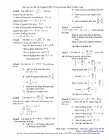 Tài Liệu Ôn Thi Tốt Nghiệp THPT Và Tuyển Sinh ĐH-CĐ Môn Toán - Vũ Đình Bảo – Đại Học Kinh Tế Tp.HCM