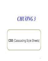 Casscading Style Sheets