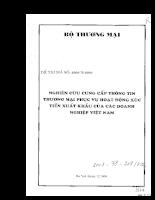 Nghiên cứu cung cấp thông tin thượng mại phục vụ hoạt động xúc tiến xuất khẩu của các Doanh nghiệp Việt Nam.pdf