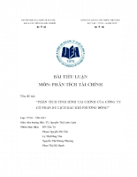 Phân tích tình hình tài chính của công ty Cổ Phần Du Lịch Dầu Khí Phương Đông.doc