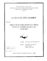Phân tích tình hình tài chính công ty TNHH SaiGon Cap năm 2007.pdf