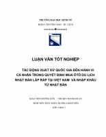 TÁC ĐỘNG XUẤT XỨ QUỐC GIA ĐẾN HÀNH VI CÁ NHÂN TRONG QUYẾT ĐỊNH MUA ÔTÔ DU LỊCH NHẬT BẢN LẮP RÁP TẠI VIỆT NAM  VÀ NHẬP KHẨU TỪ NHẬT BẢN.doc