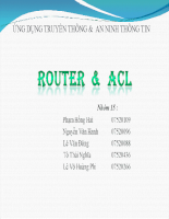 ROUTER  &  ACL