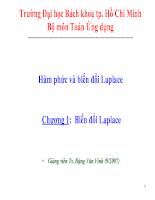 Chương I: Hàm phức và biến đổi Laplace