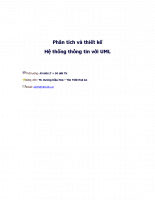 Phân tích thiết kế hệ thống thông tin bằng UML