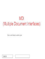 Multiple Document Interfaces