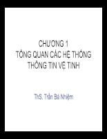 CHƯƠNG 1 TỔNG QUAN CÁC HỆ THỐNG THÔNG TIN VỆ TINH ThS. Trần Bá Nhiệm