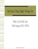 Bài giảng cơ sở dữ liệu môn CNTT