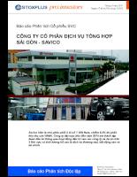 Báo cáo Phân tích Cổ phiếu SVC CÔNG TY CỔ PHẦN DỊCH VỤ TỔNG HỢP SÀI GÒN - SAVICO.pdf