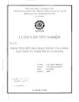 Phân tích kết quả hoạt động tài chính tại công ty TNHH thương mại DV Nam Kim.pdf