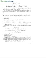 Các bài toán về số phức