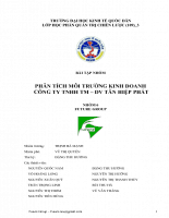 Phân tích môi trường kinh doanh công ty tnhh tm – dv tân hiệp phát.doc