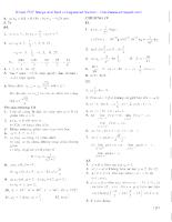 Bài tập cơ bản Giải tích lớp 11 phần X