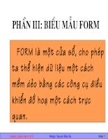 Bài giảng biểu mẫu form