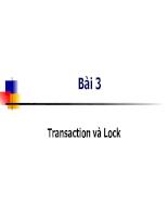 Tìm hiểu về Transaction và Lock