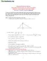 Giải bài tập hình học không gian trong các kỳ thi ĐH