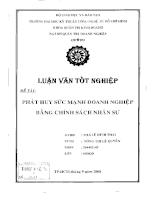 Phát huy sức mạnh doanh nghiệp bằng chính sách nhân sự tại công ty TNHH Việt Nam gạch men Thạch Anh (VICERA).pdf