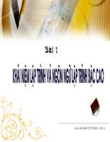 Khái niệm ngôn ngữ lập trình và ngôn ngữ lập trình bậc cao