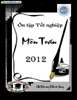 Tài liệu ôn tập thi tốt nghiệp 2012 môn toán THPT