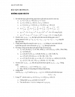 Bài tập không gian vector