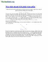 Mẹo tích phân từng phần