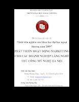 Phát triển hoạt động marketing cho các doanh nghiệp làng nghề thủ công mỹ nghệ hà nội.pdf