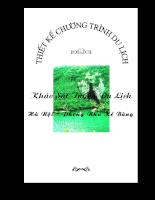 Khảo sát tuyến du lịch Hà Nội_Phong Nha Bẻ Bàng.doc