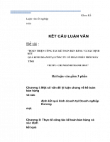 Hoàn thiện công tác kế toán bán hàng và xác định kết quả kinh doanh tại công ty cổ phần phân phối máy tính vietpc- chi nhánh thanh hoá.docx