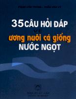 Tài liệu 35 Câu hỏi đáp về ương nuôi cá giống nước ngọt phần 1.pdf