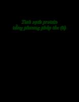 Tinh sạch Protein bằng phương pháp tủa (tiếp)